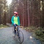 biking in the Norway forest