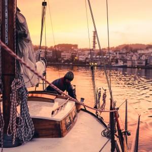 Norway sailing at sunset