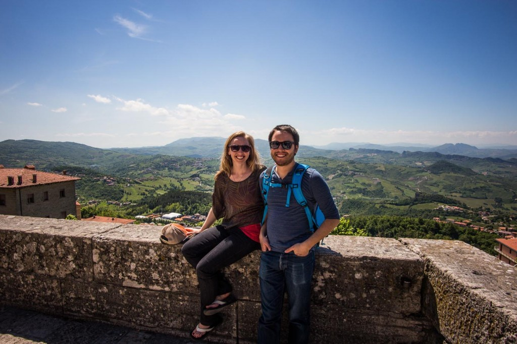 Diana and Ian in San Marino on northtosouth.us