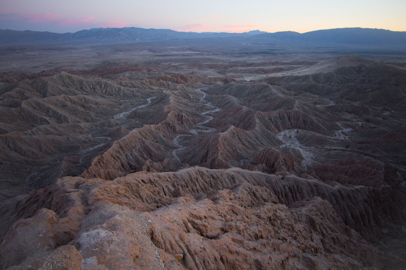 anza borrego desert state park california usa north to south