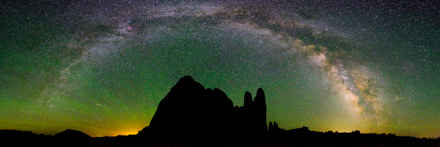 The Milky Way at Devil's Garden, Arches National Park, Utah, USA on northtosouth.us