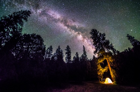 The Milky Way at Red Canyon Campground, Dixie National Forest, Utah on northtosouth.us
