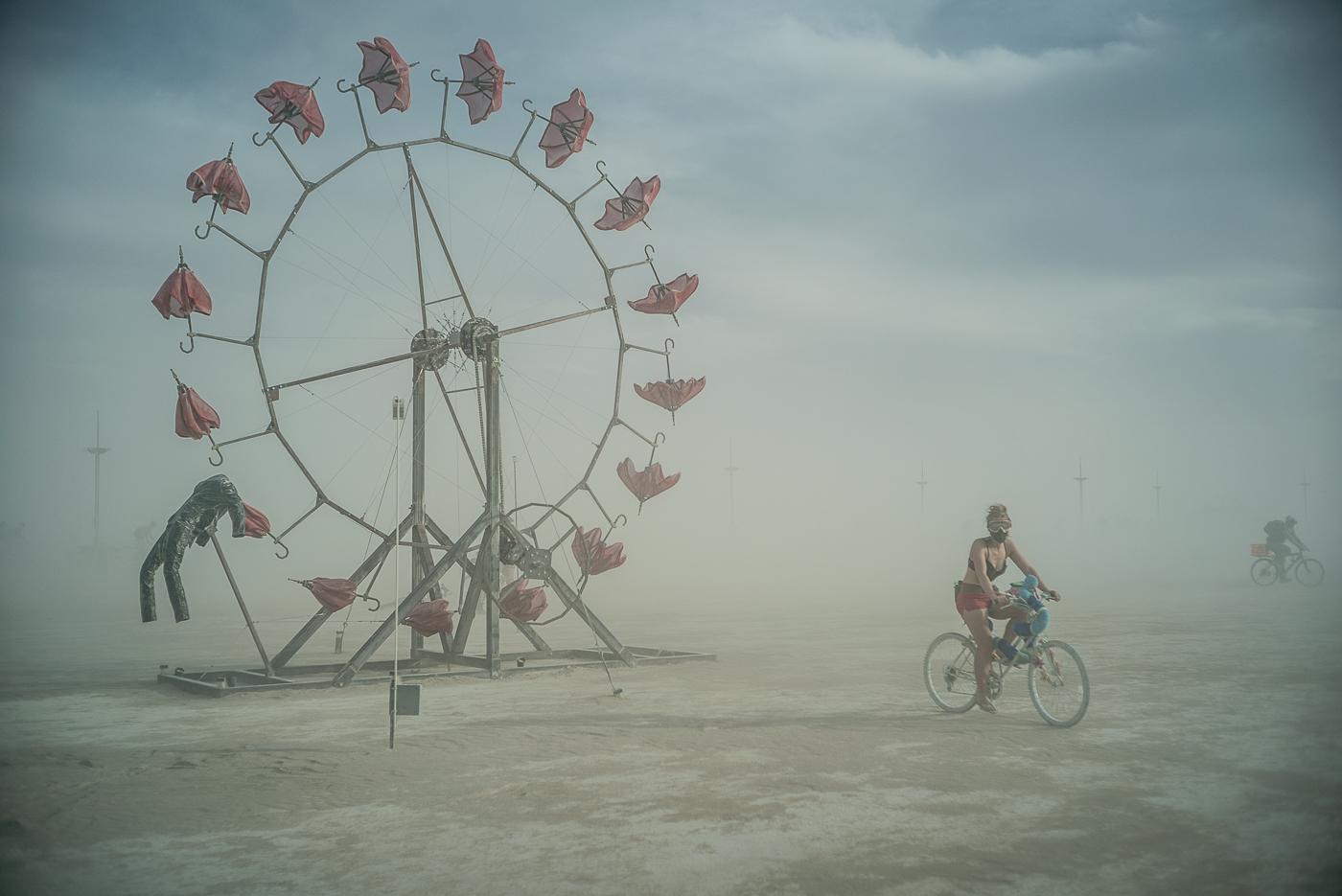 Umbrella Wheel, Burning Man 2014: In Dust We Trust - Photos of a Dusty Playa