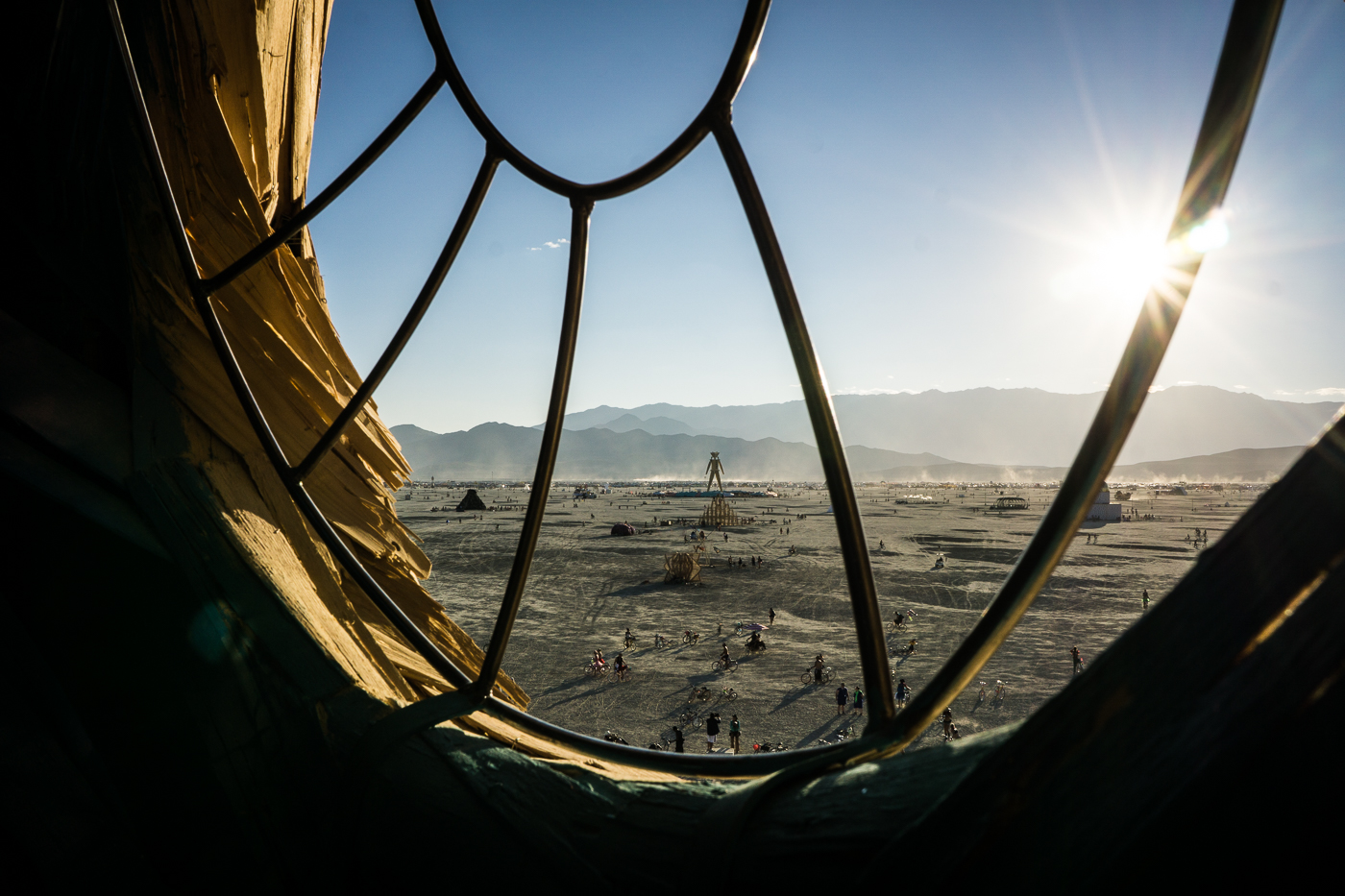 View of the Man from Embrace, Burning Man 2014: In Dust We Trust - Photos of a Dusty Playa