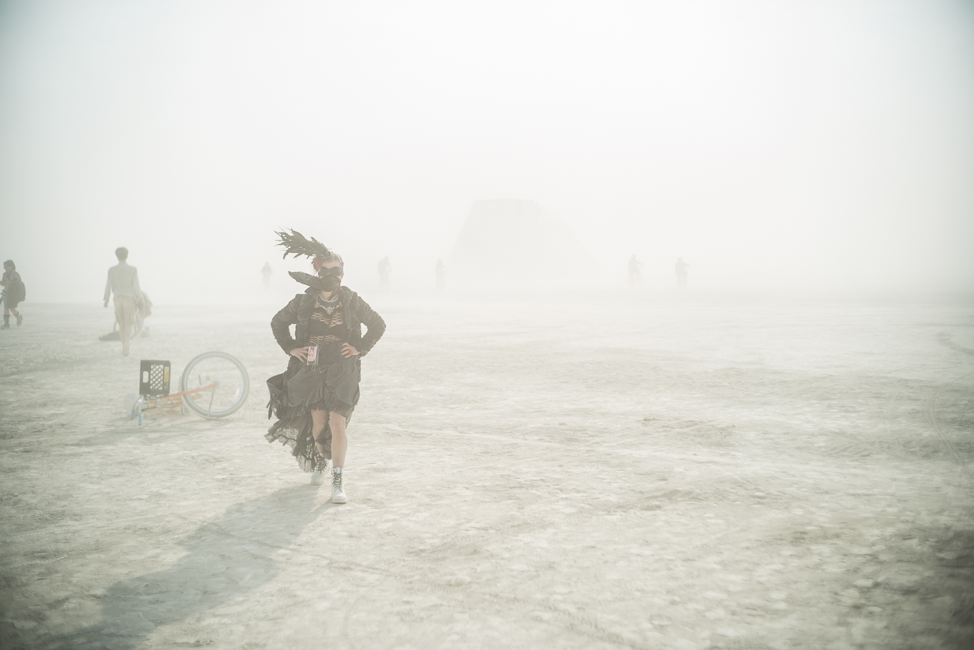 Girl in the Dust, Burning Man 2014: In Dust We Trust - Photos of a Dusty Playa