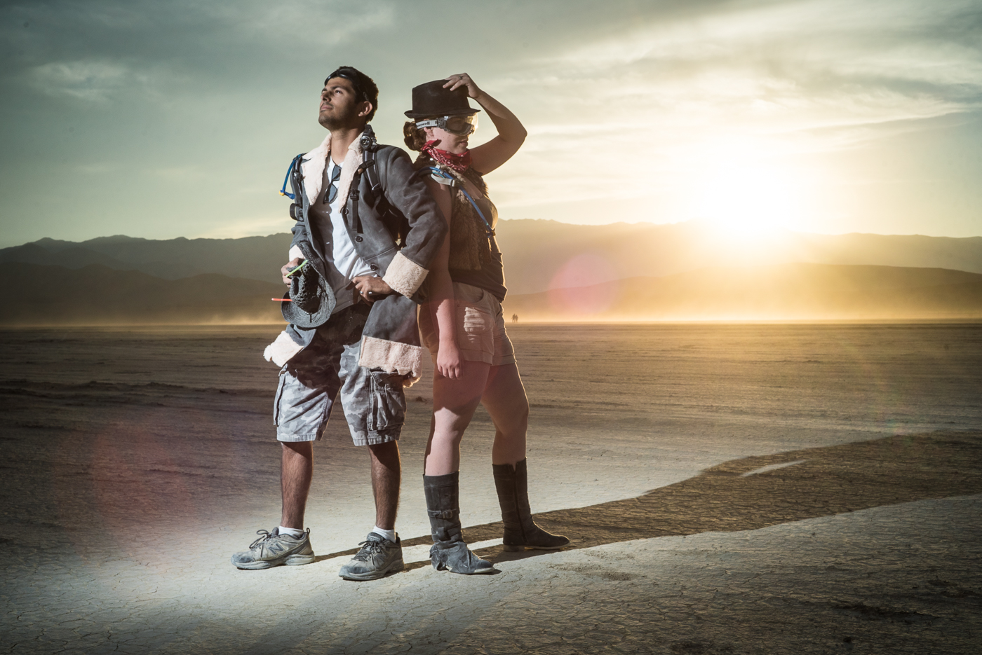 Burning Man 2014 sunset portrait couples photos on northtosouth.us