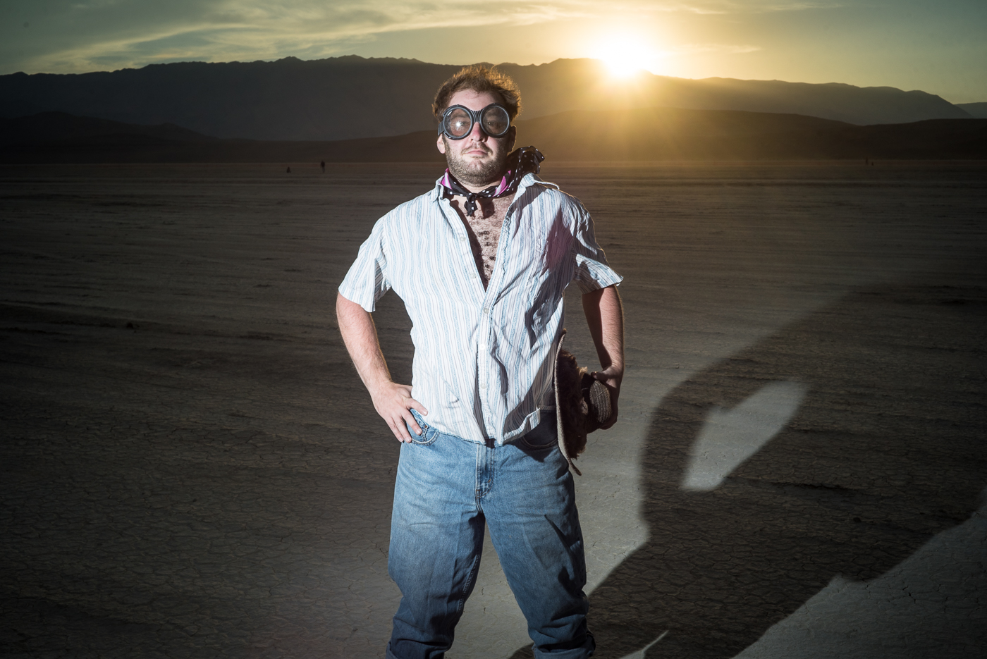 Burning Man 2014 sunset male portrait photo on the playa on northtosouth.us