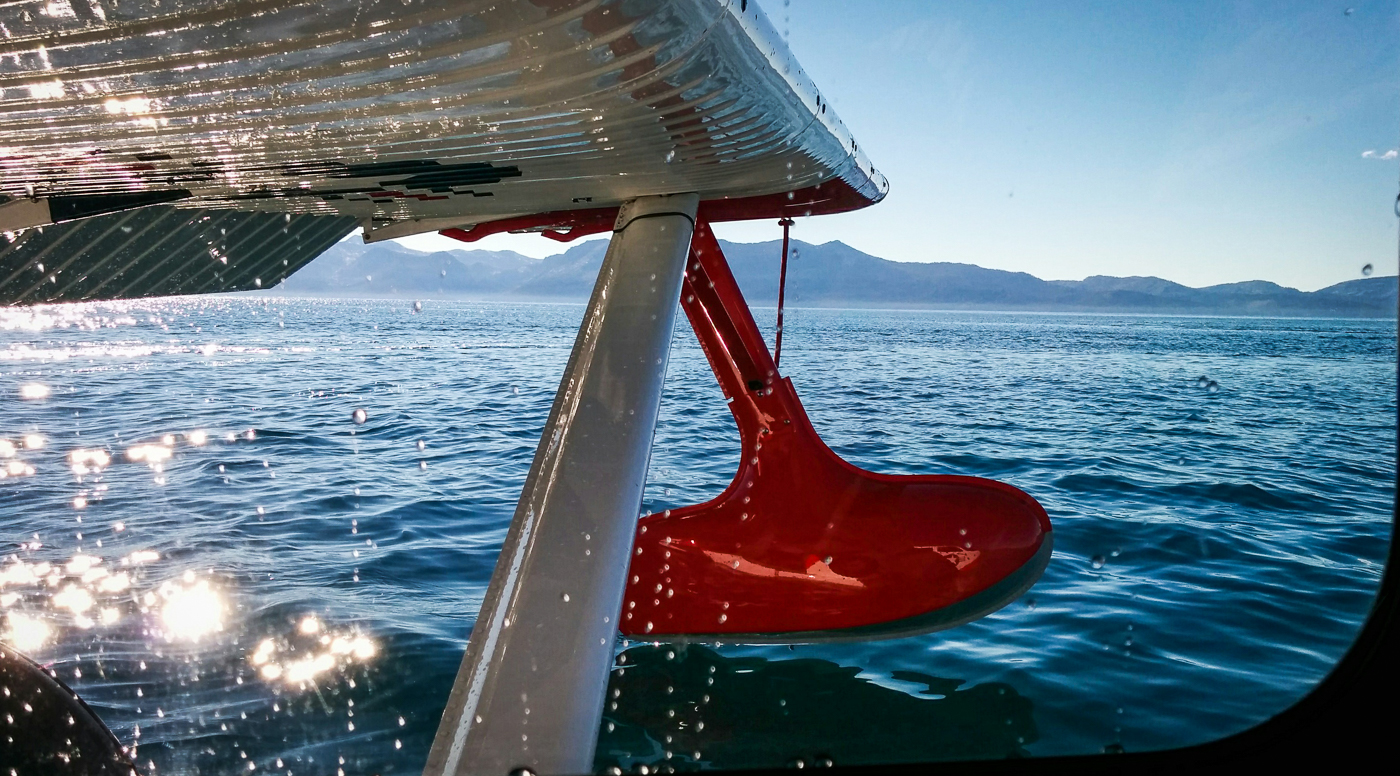 Shot of the Week: Water Landing on Lake Tahoe in the Seabee Warbird