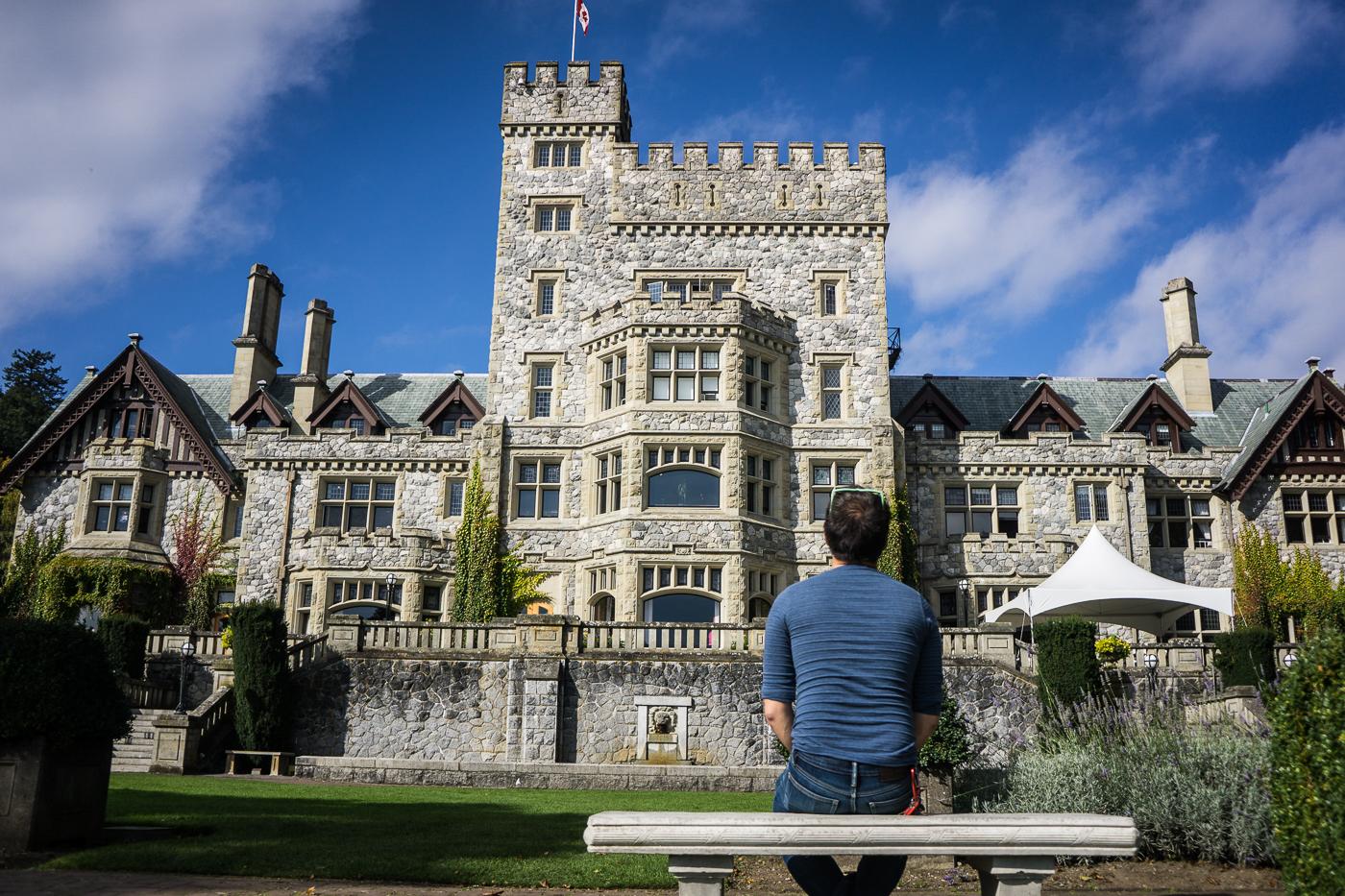 Ian at Hatley Castle, Victoria, British Columbia