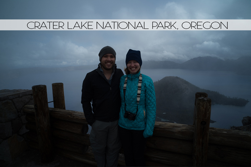 Diana and Ian at Crater Lake National Park, Oregon