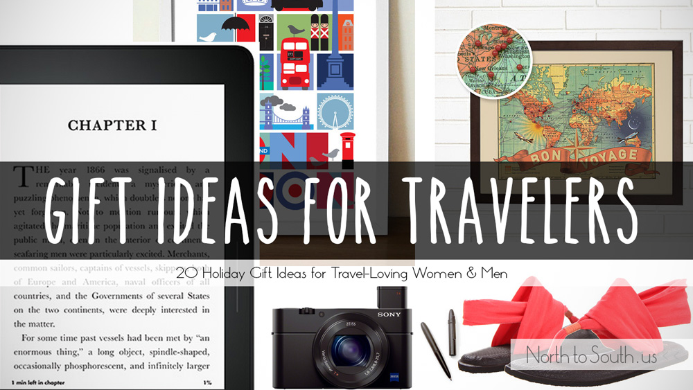 list of travel-themed gift ideas for Christmas, birthday, or any occasion