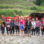 meeting the Red Dao women at the Topas Ecolodge near Sapa, Vietnam