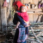 Grandmother and grandchild of the Red Dao minority in northern Vietnam