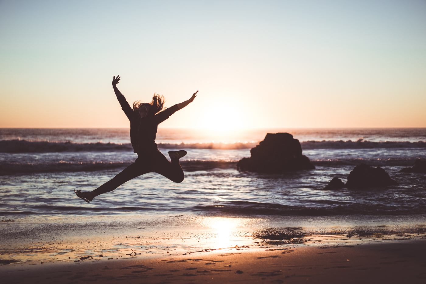 Shot of the Week: Diana jump at Zuma Beach in Malibu, California