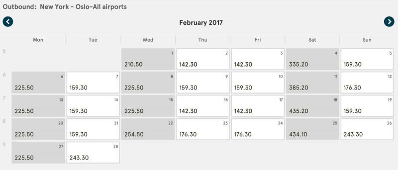 New York to Oslo February 2017 on Norwegian Air