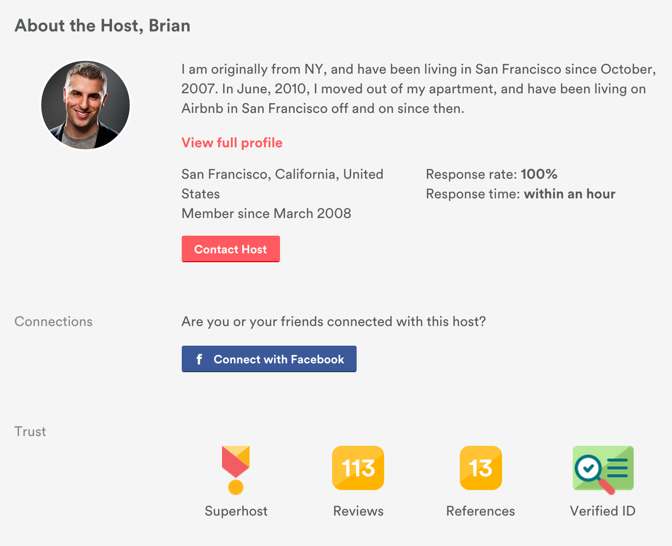 trusted host on Airbnb