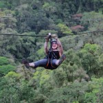 Diana Southern ziplining at Sky Trek, Sky Adventures Arenal, Costa Rica