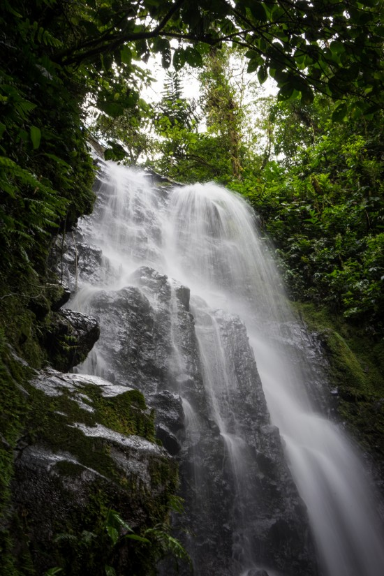 waterfall on Sky Walk hanging bridges tour with Sky Adventures Arenal, Costa Rica