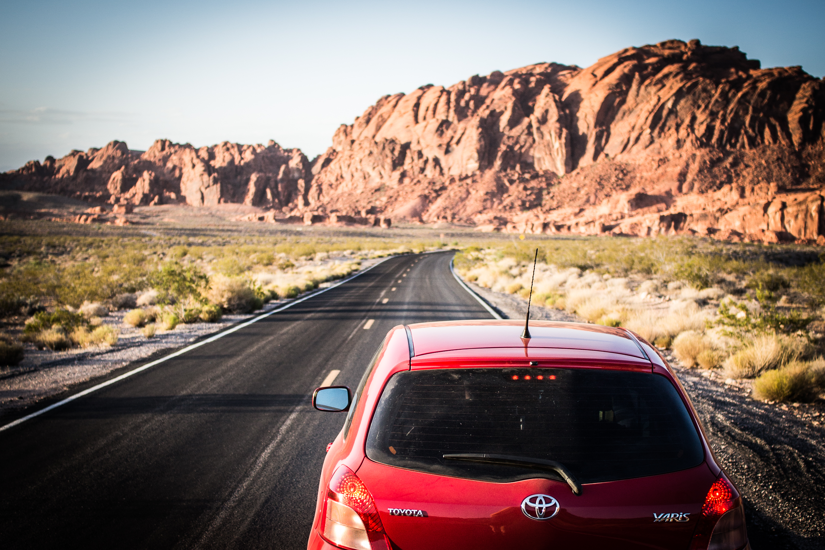 Yaris at Valley of Fire State Park, Nevada, USA