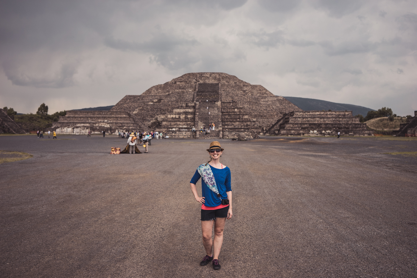 Avenue of the Dead at Teotihuacán, view of Pyramid of the Moon