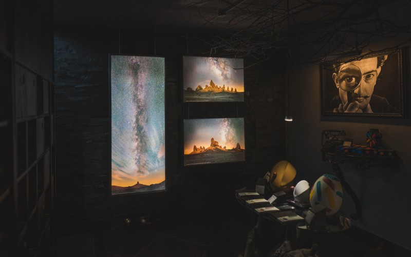 Ian Norman's Milky Way photography exhibit at Dolcenero Gallery, Mexico City