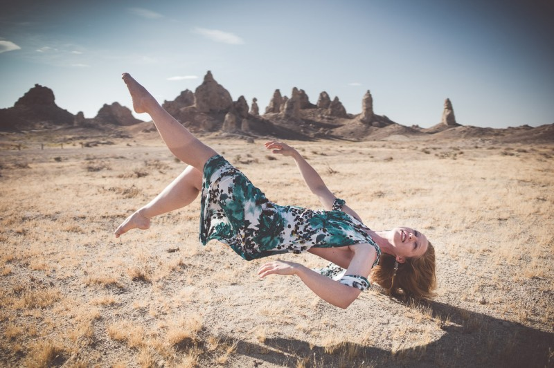 Shot of the Week: Morning Levitation, Trona Pinnacles National Monument, California, USA