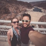 Hoover Dam selfie view from bridge