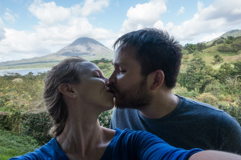 selfie at Arenal Volcano, Costa Rica with the Sony RX-100 III