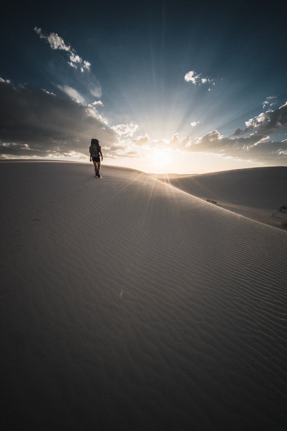 White Sands National Monument sunset hike by Ian Norman