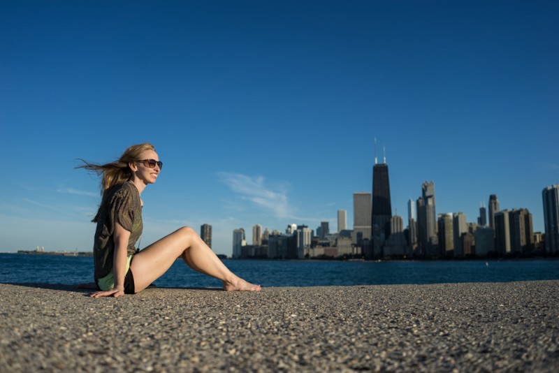 Diana Southern and the Chicago skyline