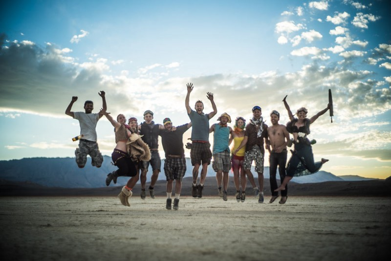 stunning travel portraits: group jump shot
