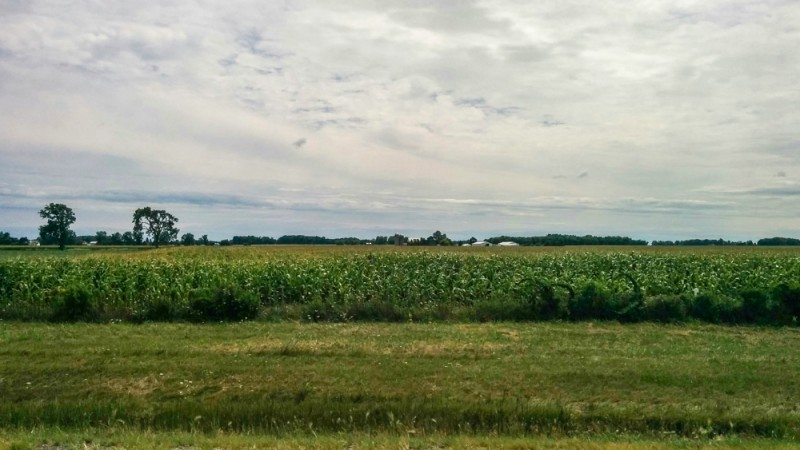 farmland views along the Ohio Turnpike