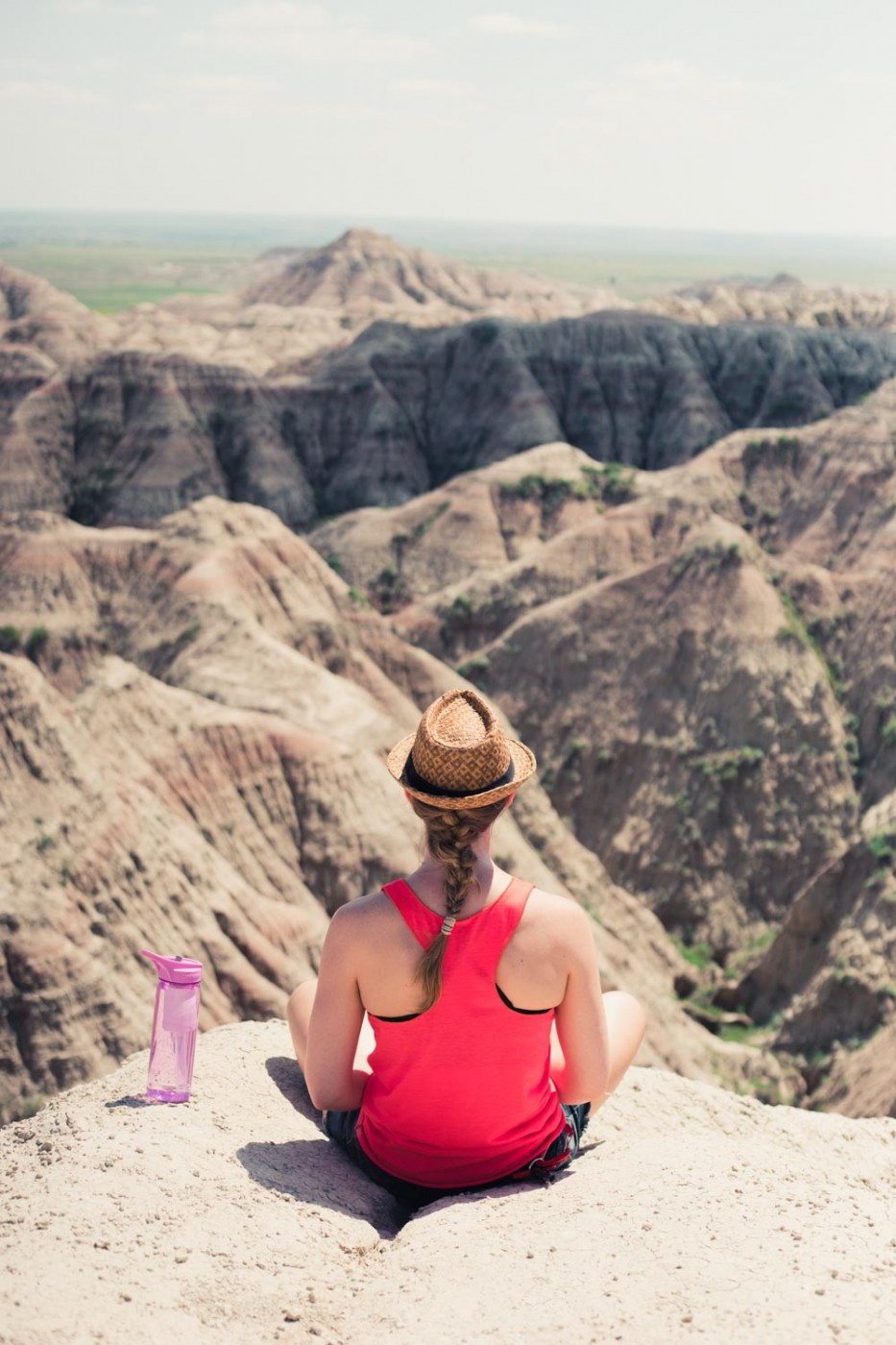 Diana Southern at viewpoint in Badlands National Park, South Dakota