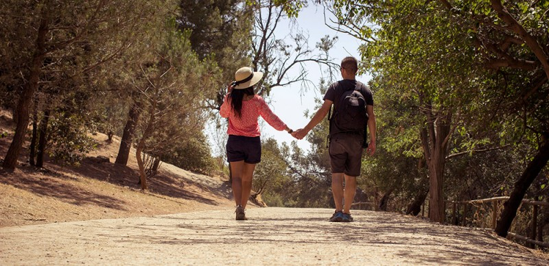 Chris Tyre and Ismary Torres holding hands