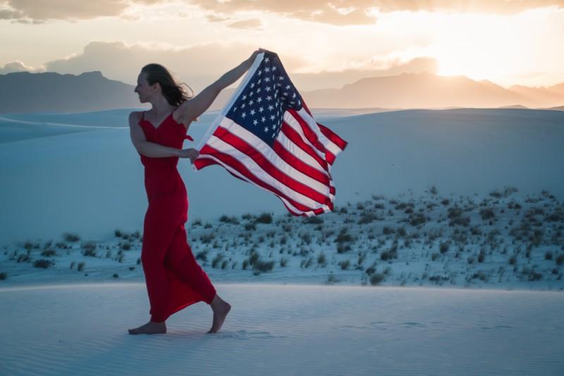 White Sands National Monument at sunset