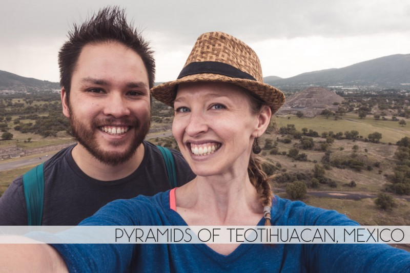 Diana Southern and Ian Norman at Pyramids of Teotihuacan, Mexico