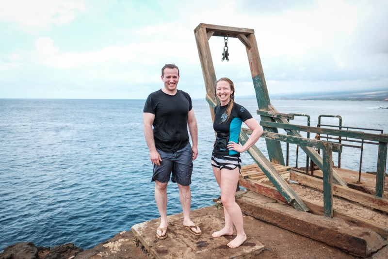 Cliff jumping at the southernmost point in the U.S. -- South Point, Hawaii's Big Island