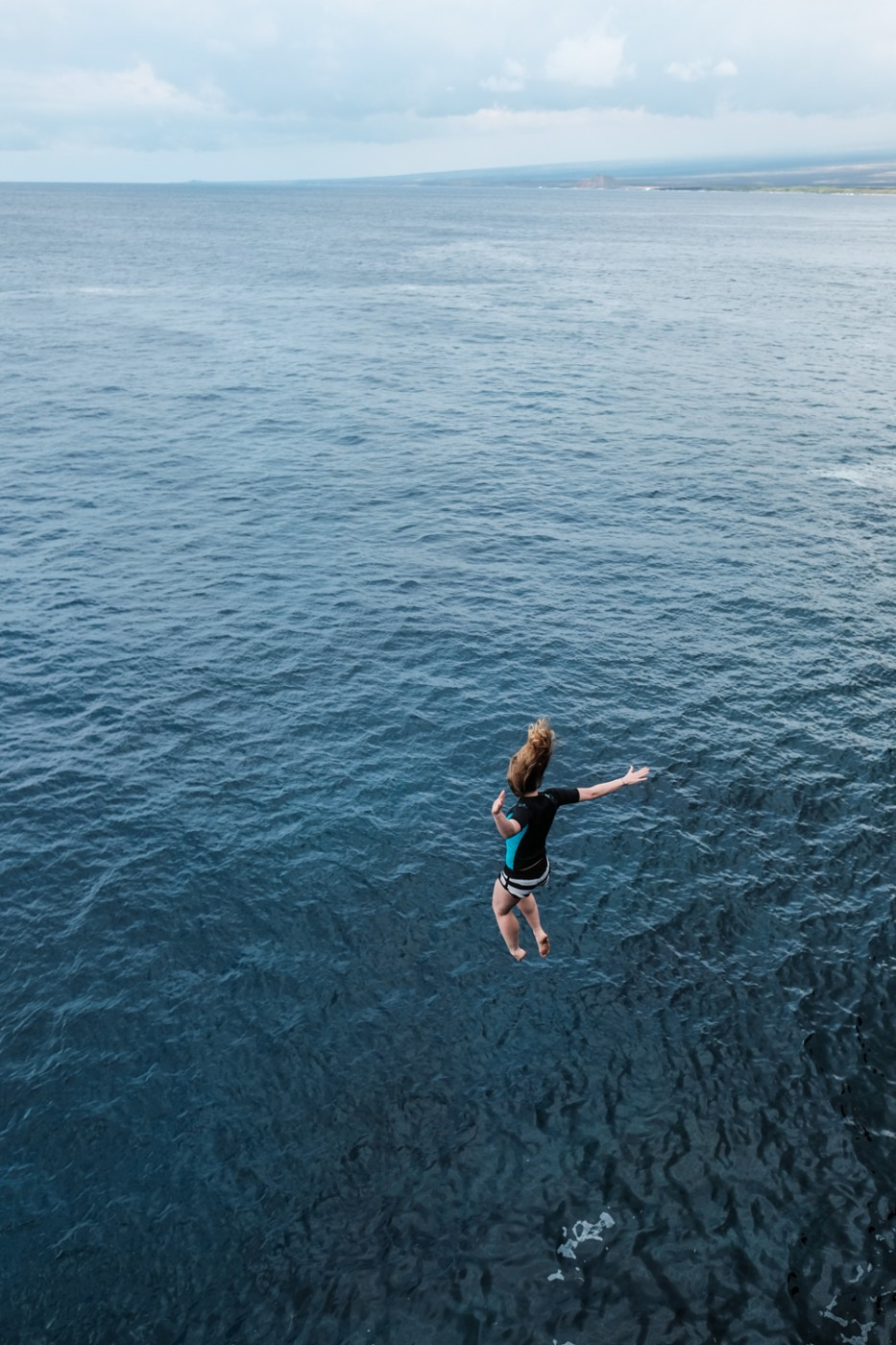Cliff jumping on Hawaii's Big Island at South Point