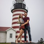 Diana Southern and Ian Norman at the easternmost point of the U.S.