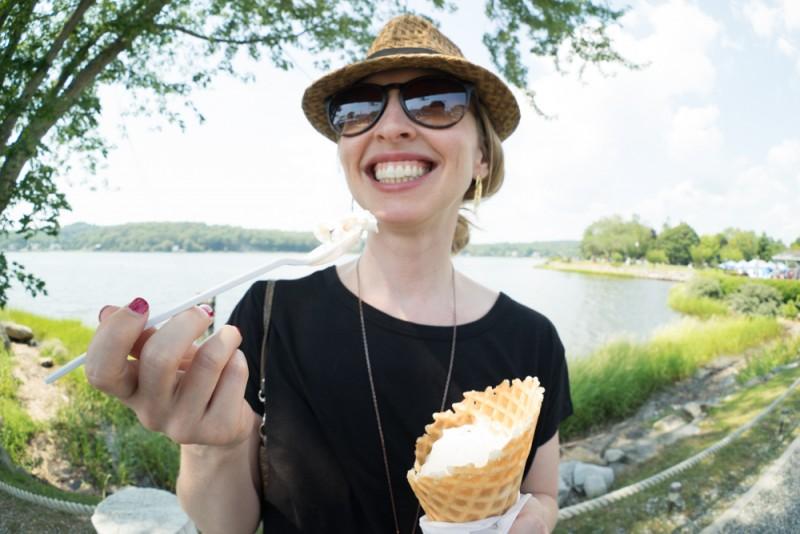 ice cream stop in Mystic Seaport