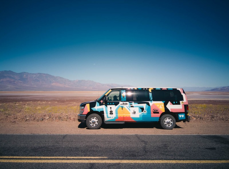 Escape Campervan in Death Valley National Park