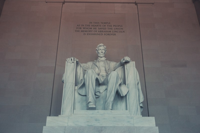 Abraham Lincoln statue at the Lincoln Memorial, Washington D.C.