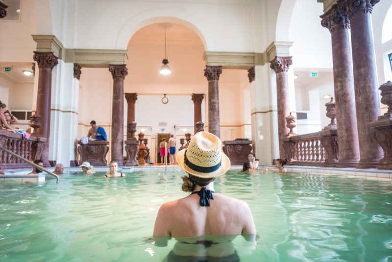 Indoor pool at Széchenyi thermal bath