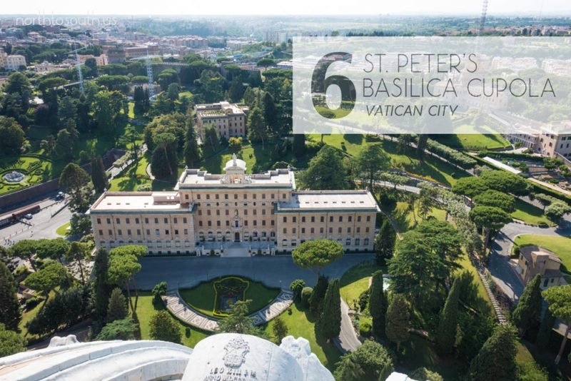 Taking the Stairs: 10 Breathtaking Viewpoints to Hike to in Europe: St. Peter's Basilica Cupola (Vatican City)