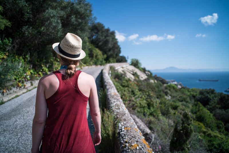 Hiking to the Top of the Rock of Gibraltar | View of Morocco, Africa from Gibraltar