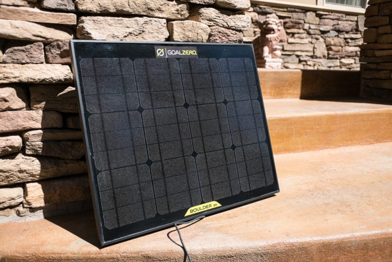 Goal Zero Yeti 400 Solar Generator and Boulder 30 Solar Panel