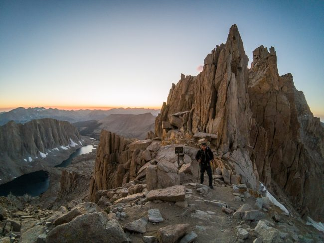 Views from Trail Crest on the Mt Whitney Trail -- northtosouth.us