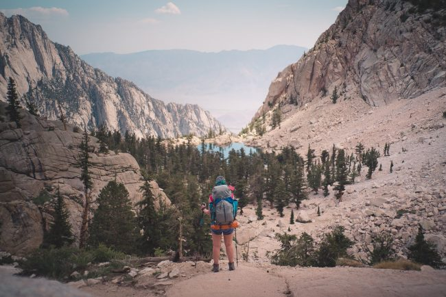 View of Lone Pine Lake from Above - Hiking Down the Mt Whitney Trail - northtosouth.us