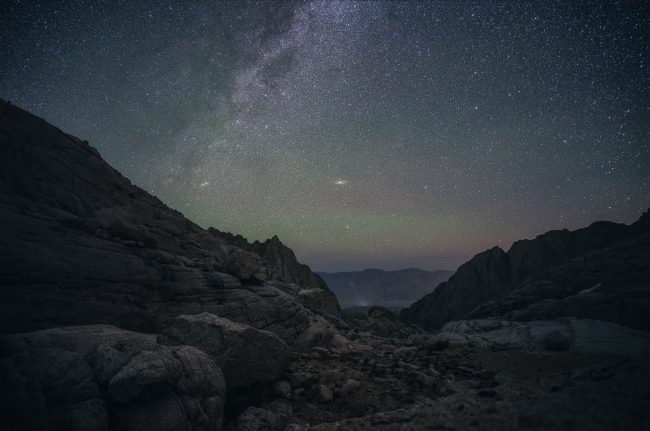 The Milky Way from the Mt Whitney Trail - photo by Ian Norman - northtosouth.us